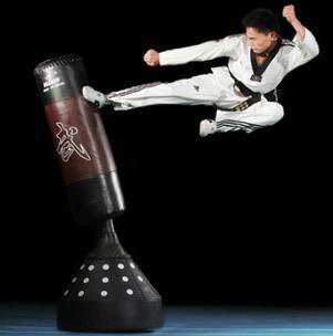 龙珠跆拳道踢沙包
