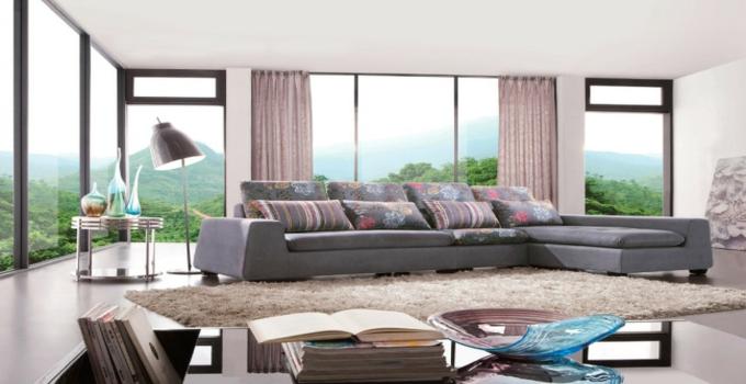 斯尔顿布艺沙发棕色