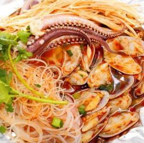 巴頓王記錫紙烤粉絲海鮮味