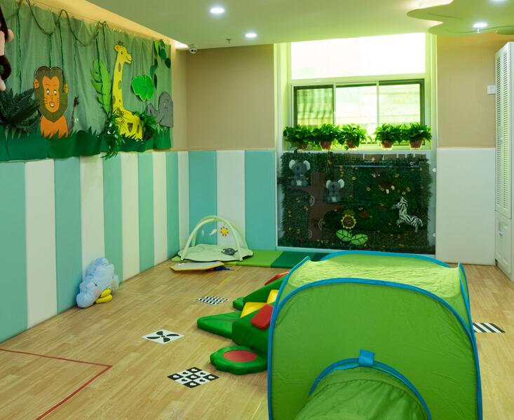 汇美国际托婴中心玩乐室