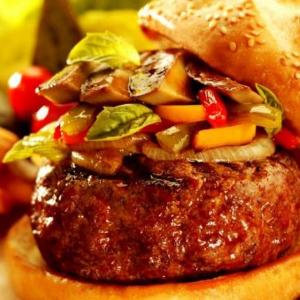 堡里乐汉堡口感鲜嫩