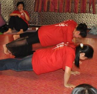 成都v瑜伽健身現場