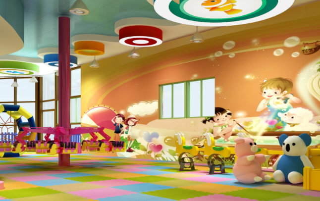 卡卡兔儿童游乐园游玩区