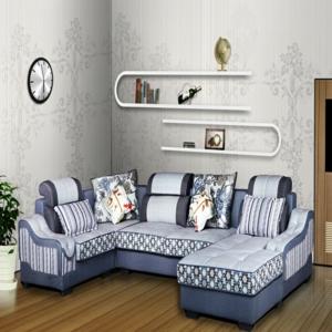 斯尔顿布艺沙发蓝色
