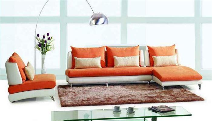 摩地纳布艺沙发橙色