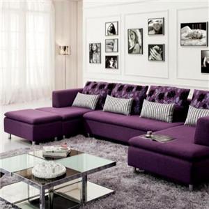 木加布藝沙發紫色