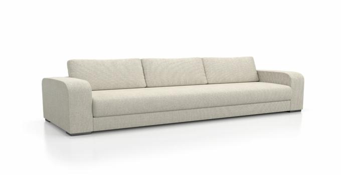 斯尔顿布艺沙发白色