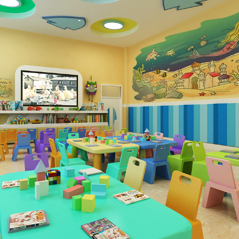点金石幼儿园休息室