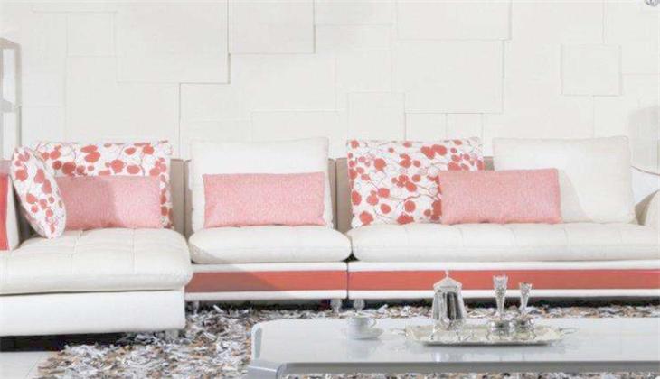 優度布藝沙發粉色沙發