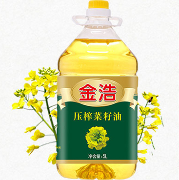 金浩菜籽油展示