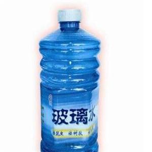 明庭玻璃水蓝瓶