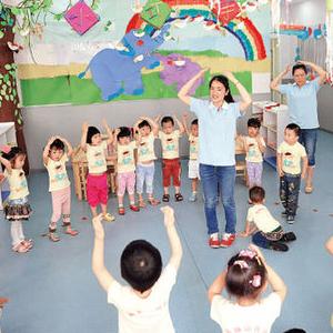 回龙观童学园幼儿园跳舞