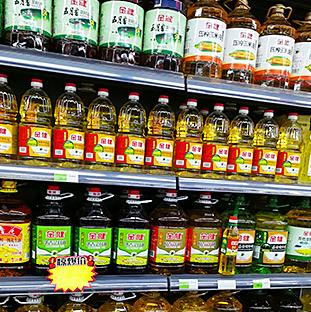金健菜籽油超市貨架