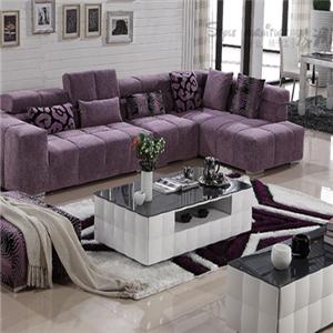 格调布艺沙发紫色沙发