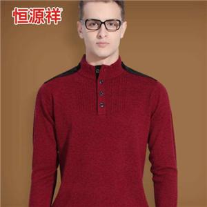 恒源祥羊毛衫正红色