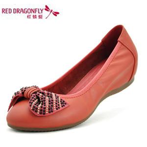 红蜻蜒皮鞋女皮鞋