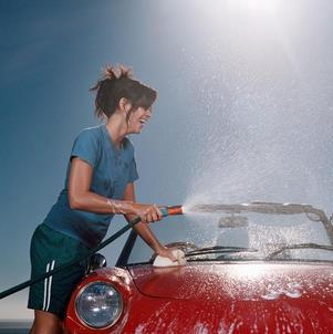 龟博士洗车红色