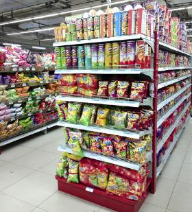 迪卡侬超市零食区