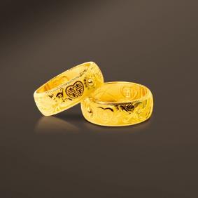 得发黄金戒指
