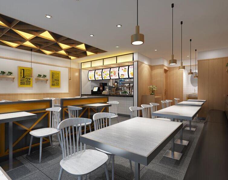 百基拉快餐汉堡店面装修