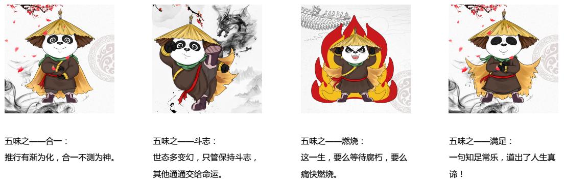 川渝故事五味面熊貓形象