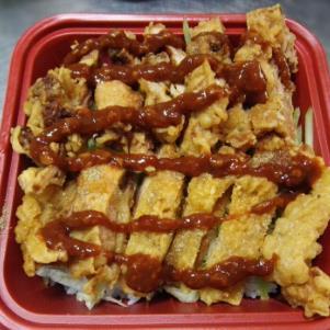 西汗脆皮鸡饭盒饭
