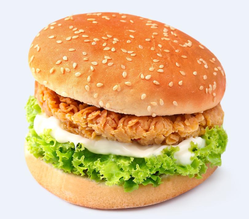 百基拉快餐汉堡香辣鸡腿堡