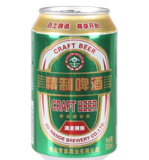 百士啤酒绿听
