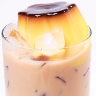 自由美奶茶店布丁奶茶