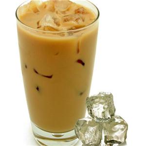 可可漢堡奶茶冰塊