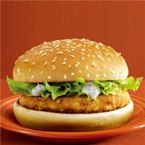 嘻哈炸鸡汉堡生菜