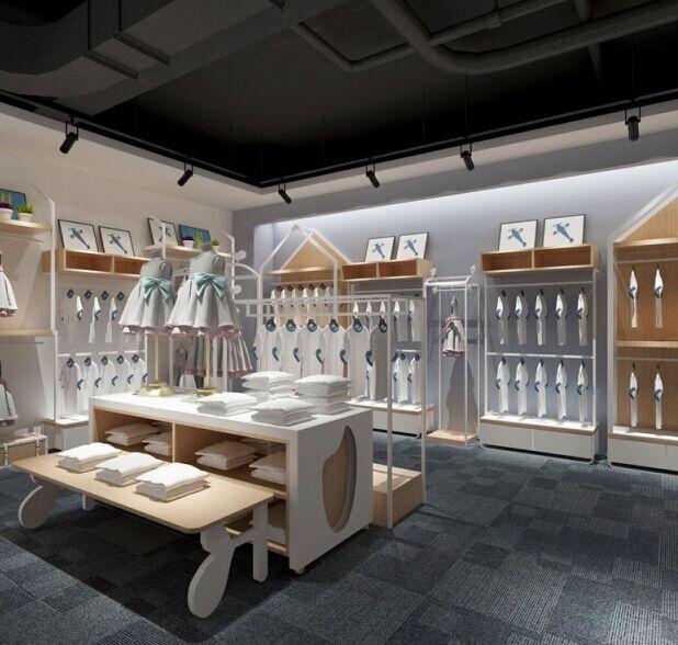 可米芽快时尚生态童装品牌店面展示
