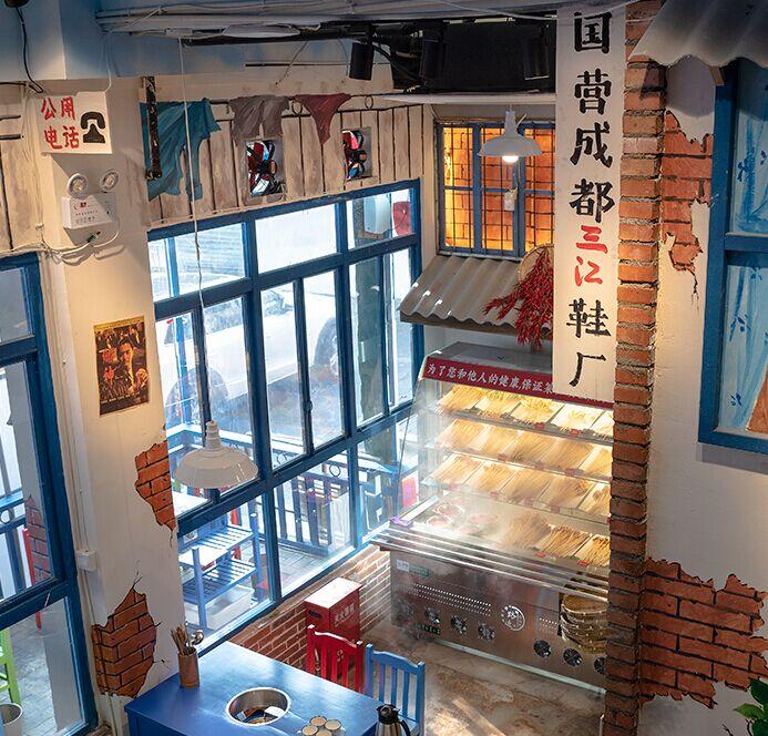 譚二師路邊麻辣燙店面展示