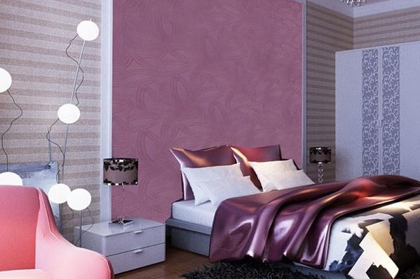 蒙太奇平湖硅藻泥紫色玫瑰系列