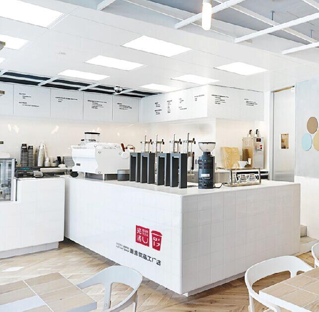 光洛奶茶店面设计