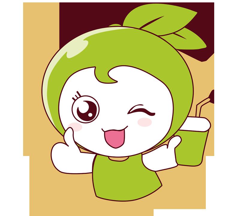 柚柚美奶茶品牌logo