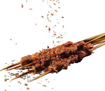 串说海鲜烧烤店羊肉串