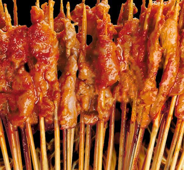 口口绝烤鸭肠肉串