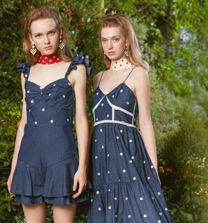 木丝语女装蓝裙