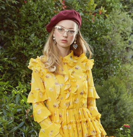 木絲語女裝黃裙