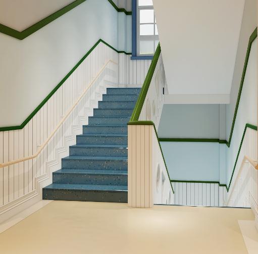 青青藤乐学堂楼梯