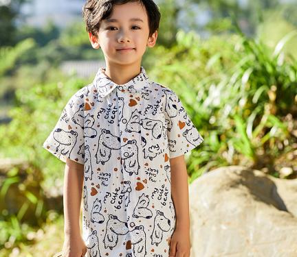 小猪宾果潮品童装衬衫