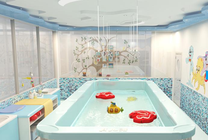 月儿湾婴儿游泳馆亚克力池区