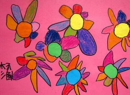 七色花美术花
