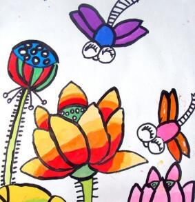 七色花美术蜻蜓
