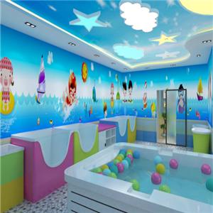 多多爱婴儿游泳馆墙壁
