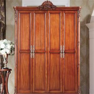 红橡木衣柜中式衣柜