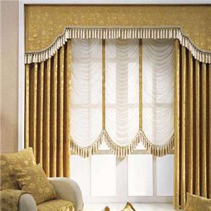 罗马布艺窗帘黄色