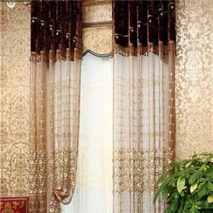 罗马布艺窗帘纱帘