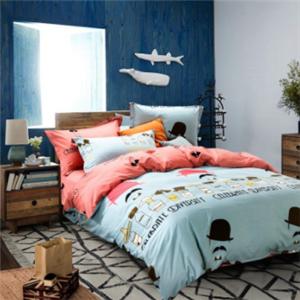 寐牌床上用品蓝色
